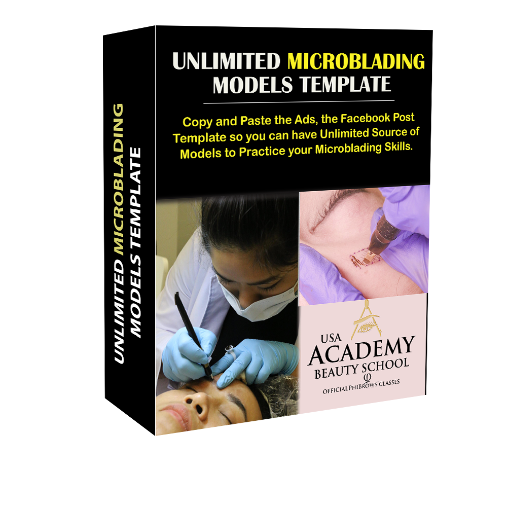 Unlimited microblading models template
